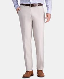 Men's Premium Comfort Khaki Classic-Fit 2-Way Stretch Wrinkle Resistant Flat Front Stretch Casual Pants