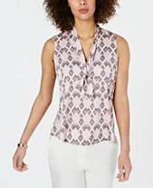 9deadfe434d Tie Neck Blouse  Shop Tie Neck Blouse - Macy s