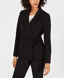 Kasper Notch Collar Side-Tie Blazer