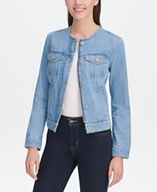Levi's® Cotton Collarless Denim Jacket
