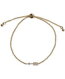 Kitsch Gold-Tone Pavé Arrow Slider Bracelet