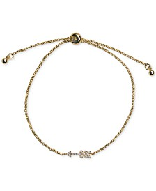 Kitsch 14k Gold Pavé Arrow Slider Bracelet