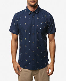 O'Neill Men's Frequency Modern-Fit Tropical-Print Oxford Shirt