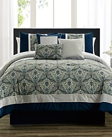 Weddington Blue 7-Pc. California King Comforter Set