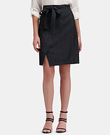 DKNY Denim Wrap Skirt