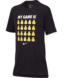 Nike Big Boys Game Is Money Graphic Cotton T-Shirt