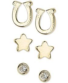 14k Gold 6-Pc. Set Stud Earrings