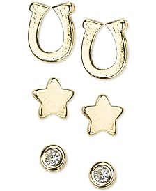 Kitsch 14k Gold 6-Pc. Set Stud Earrings