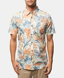O'Neill Men's Sessions Modern-Fit Tropical-Print Shirt