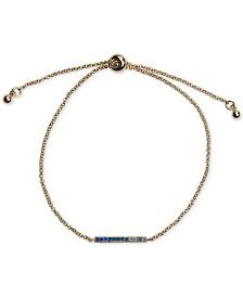 Kitsch Gold-Tone Ombré Pavé Bar Slider Bracelet