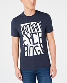 A X Armani Exchange Men's Slim-Fit Grid Logo T-Shirt