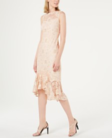 Calvin Klein Lace Overlay Midi Dress
