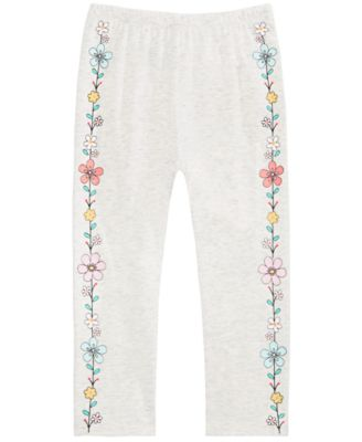 Baby Girls Flower Border Pants, Created for Macy's