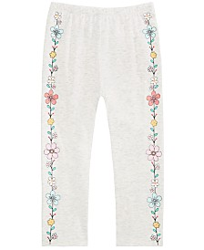First Impressions Baby Girls Flower Border Pants, Created for Macy's