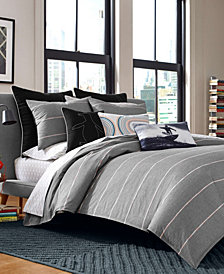Original Penguin Reed Charcoal Twin Comforter Set