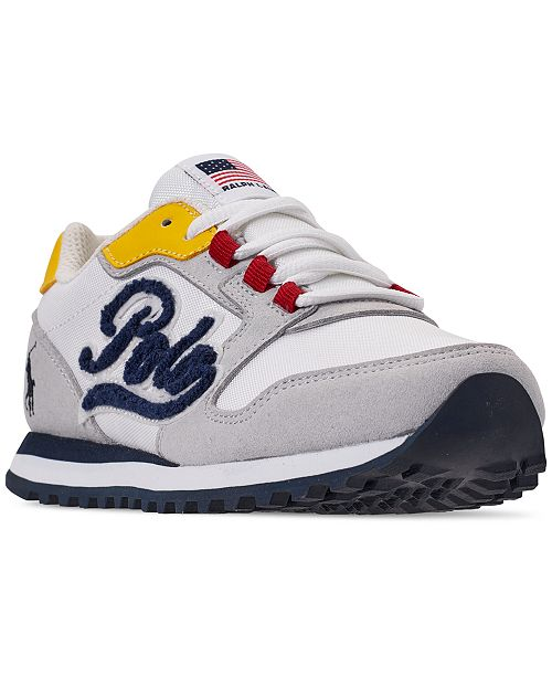 85e7a8609a29 ... Polo Ralph Lauren Boys  Oryion Script Casual Sneakers from Finish ...
