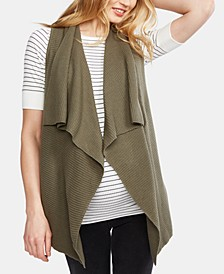 Maternity Cotton Draped Vest