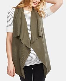 A Pea In The Pod Maternity Cotton Draped Vest
