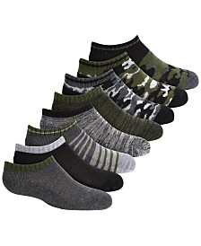 Planet Sox Toddler, Little & Big Boys 8-Pk. No-Show Camo-Print Socks