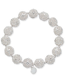 Charter Club Silver-Tone Filigree Ball Stretch Bracelet, Created for Macy's