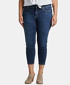Silver Jeans Co. Plus Size Suki Skinny Crop Jeans
