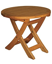 TERRACE MATES ASPEN Folding Round End Table, 18""