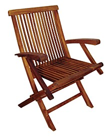 TERRACE MATES Folding Arm Chairs, Set of 2