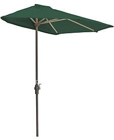 Blue Star Group OFF-THE-WALL BRELLA, 9' Wide Half Umbrella, SolarVista Fabric