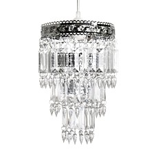 Tadpoles Faux-Crystal and Chrome Queen's Crown Pendant Small