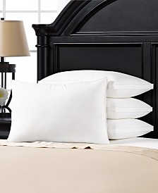 Plush Allergy Resistant Medium Down Like Fiber Filled Pillow - Set of Four - Standard