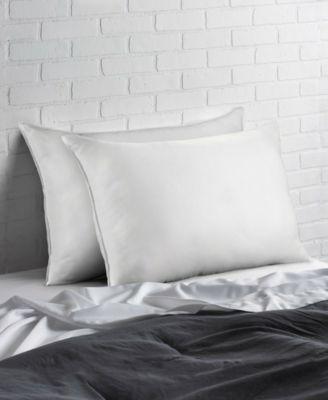Signature Plush Allergy Resistant Down Like Fiber Pillow Medium - Set of Two - Queen