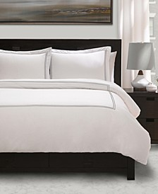 100% Cotton Percale 3 Piece Duvet Set with Satin Stitching - King/California King