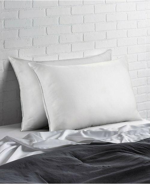 Ella Jayne Soft Plush Gel Fiber Filled Allergy Resistant Stomach Sleeper Pillow - Set of Two - Queen