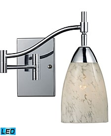 Celina 1-Light Swingarm Sconce in Polished Chrome - LED Offering Up To 800 Lumens (60 Watt Equivalent)