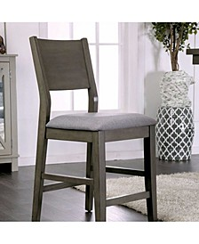 Wooden Counter Height Chair with Cushioned Seat