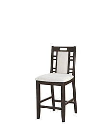 Benzara Wooden Armless High Chair, Set of 2