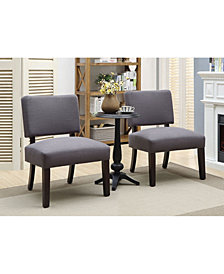 Benzara Wooden Accent Table And Padded Chair Set