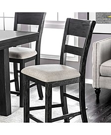 Transitional Style Counter Height Chair, Set of 2