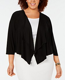 Plus Size Mesh-Back Cardigan