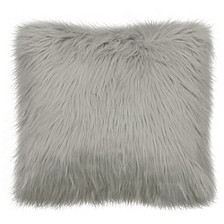 "Sheepskin 22"" Square Faux Fur Decorative Pillows"