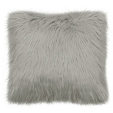 """French Connection Sheepskin 22"""" Square Faux Fur Decorative Pillows"""
