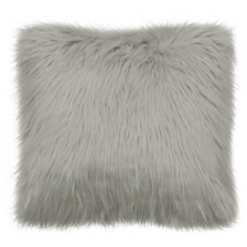 "French Connection Sheepskin 22"" Square Faux Fur Decorative Pillows"