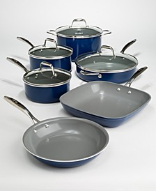 10-Pc. Titanium Ceramic Cookware Set, Created for Macy's