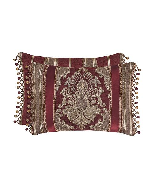 J Queen New York J. Queen Crimson Collection Boudoir Pillow