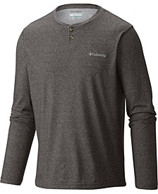 Men's Long-Sleeve Heathered Henley