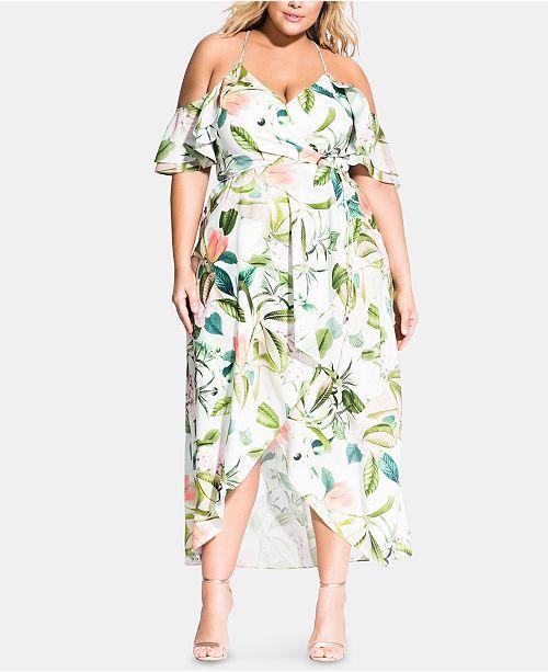 City Chic Plus Size Fresh Floral Maxi Dress & Reviews ...