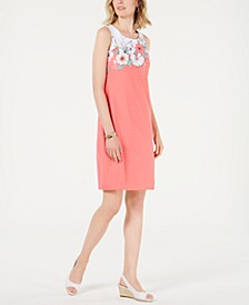 Petite Floral-Print Shift Dress, Created for Macy's