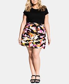 Plus Size Girly Camo Skirt