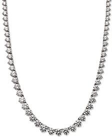 Sterling Silver Necklace, Swarovski Zirconia Necklace (53 ct. t.w.)