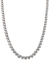 fa3b2c256 Arabella Sterling Silver Necklace, Swarovski Zirconia Necklace (53 ct. t.w.)